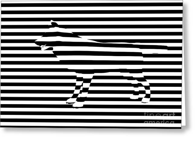 Wolf optical illusion Greeting Card by Pixel  Chimp