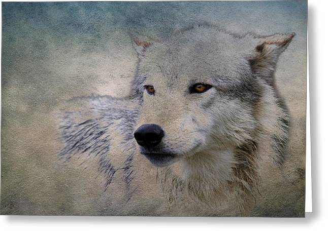 Preditor Photographs Greeting Cards - Wolf Paint Greeting Card by Steve McKinzie