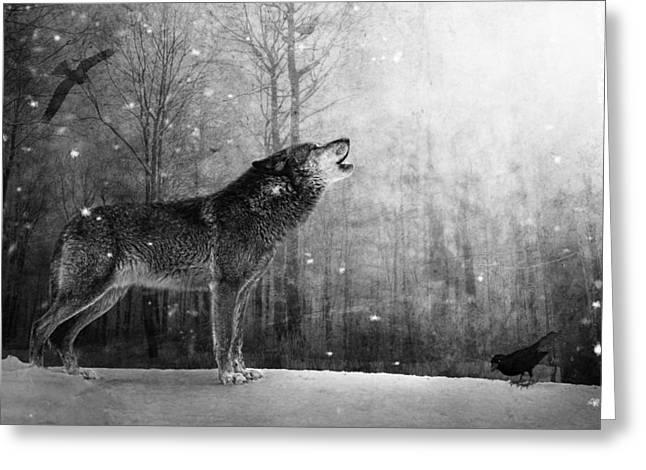 Marc Huebner Greeting Cards - Wolfheart Greeting Card by Marc Huebner