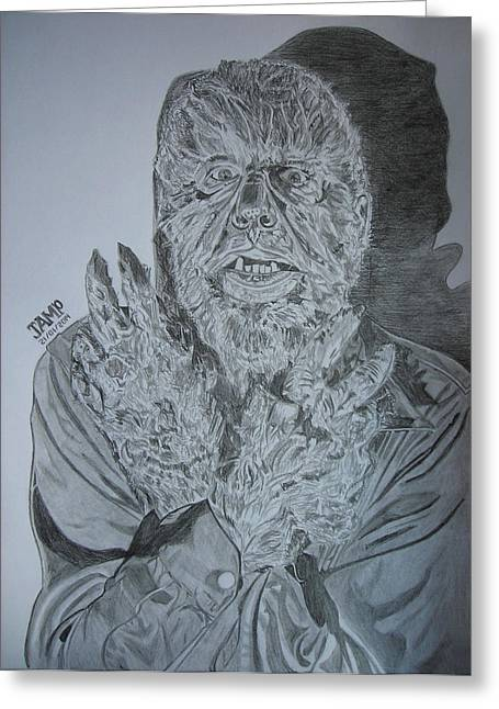 Wolfman Greeting Cards - Wolfman Greeting Card by Jose Mendez