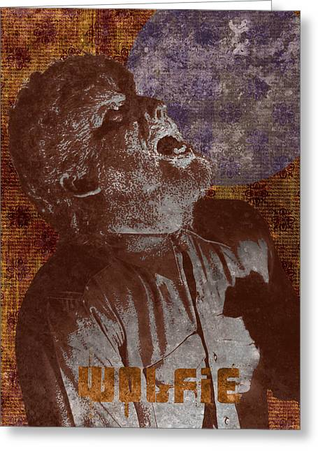 Wolfman Wolfie Greeting Card by MMG Archives
