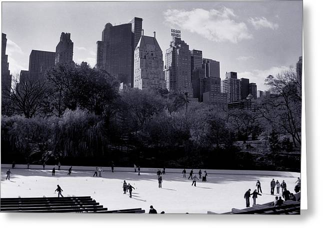 Wollman Rink Greeting Card by Tonino Guzzo