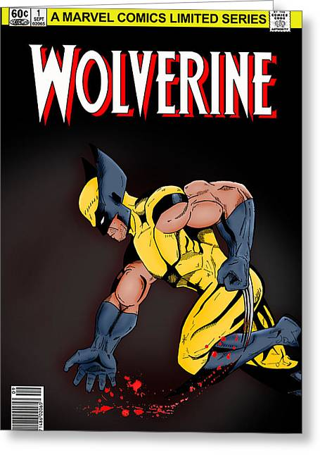 Book Cover Art Greeting Cards - Wolverine Greeting Card by Mark Rogan
