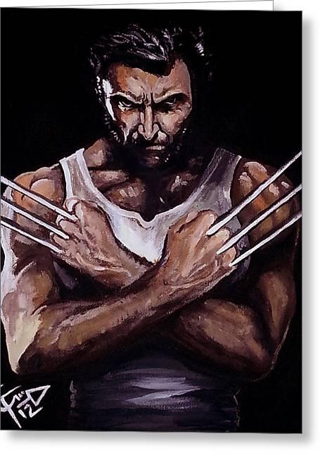 X Men Greeting Cards - Wolverine Greeting Card by Tom Carlton