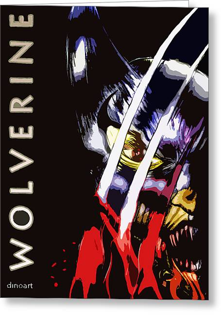Comic Book Character Paintings Greeting Cards - Wolverine Ultimate  Greeting Card by Jazzboy