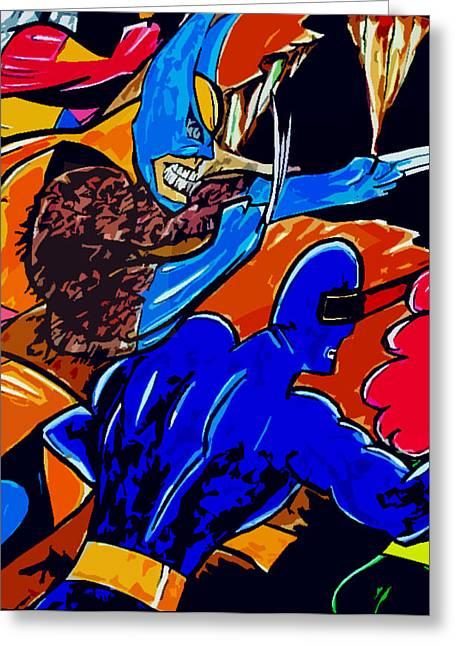 Superheroes Drawings Greeting Cards - Wolverine -x-men  Greeting Card by Jazzboy