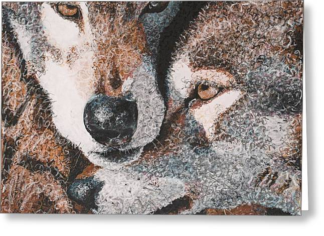 Husky Pastels Greeting Cards - Wolves Greeting Card by C Ryan Pierce