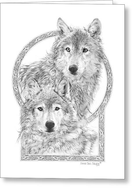 Wolf Portrait Greeting Cards - Canis Lupus II - Wolves - Mates for Life  Greeting Card by Steven Paul Carlson