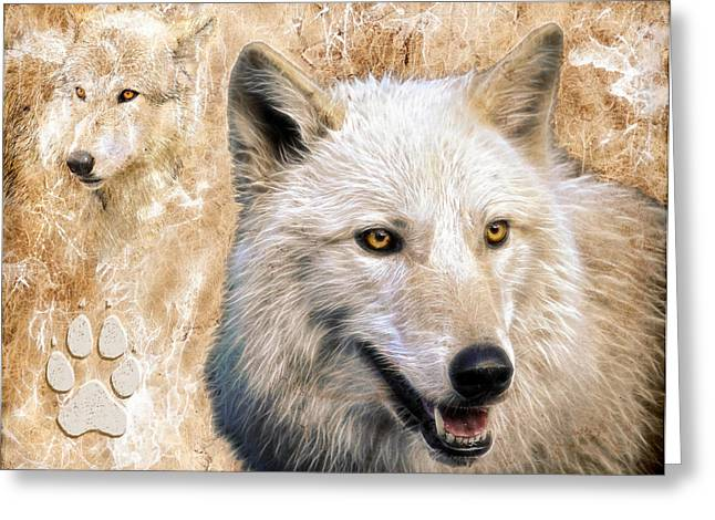 Preditor Greeting Cards - Wolves Greeting Card by Steve McKinzie