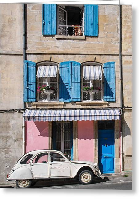 Provence Village Greeting Cards - Woman at the Window Greeting Card by Michael Blanchette