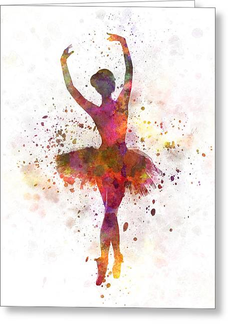 Recently Sold -  - Dancing Girl Greeting Cards - Woman ballerina ballet dancer dancing  Greeting Card by Pablo Romero