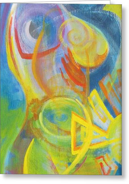 Abstract Expression Greeting Cards - Woman Greeting Card by Brian Tilbury