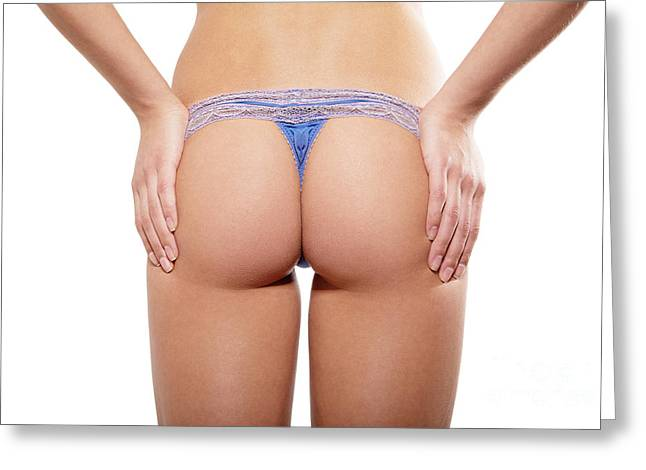 Hand Built Greeting Cards - Woman Buttocks In Panties Greeting Card by Aleksey Tugolukov