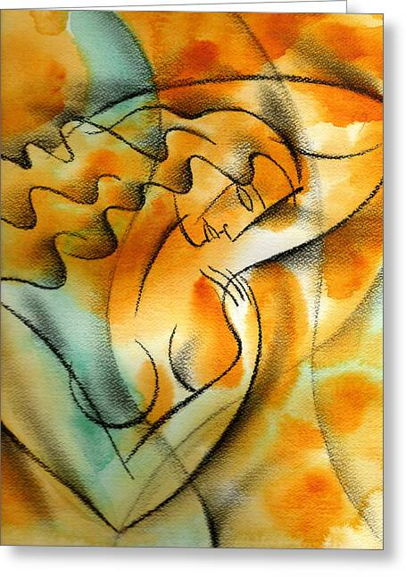 Cancer Paintings Greeting Cards - Woman Health Greeting Card by Leon Zernitsky