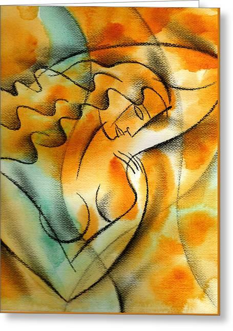 Woman Health Greeting Card by Leon Zernitsky