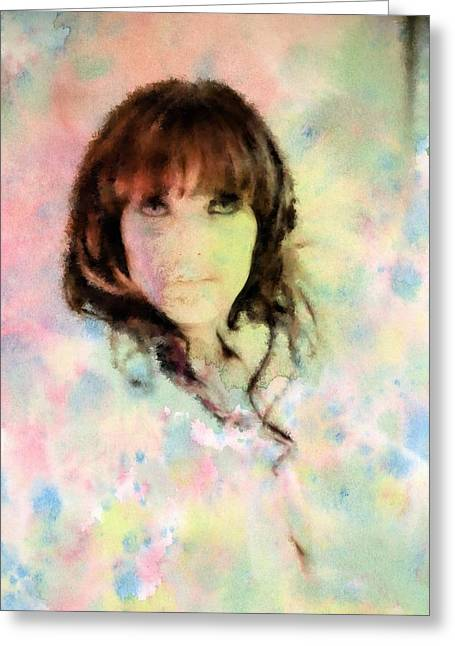 Lush Mixed Media Greeting Cards - Woman in Colour pt 1 Greeting Card by Darren Peet