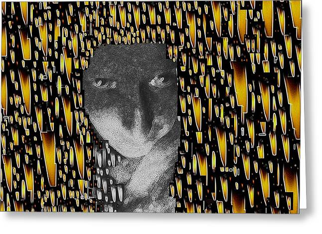 Woman In Flames Greeting Card by Pepita Selles