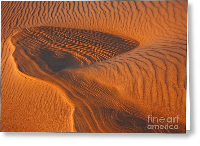 Sand Pattern Greeting Cards - Woman In the Dunes Greeting Card by Beth Sargent