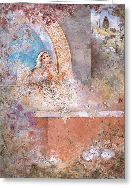 Judaic Greeting Cards - Woman of Valor Greeting Card by Michoel Muchnik