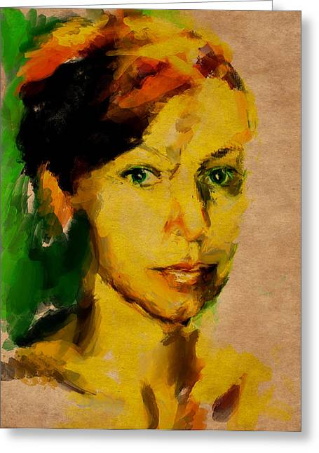 Attractiveness Greeting Cards - Woman Portrait 10 Greeting Card by Yury Malkov