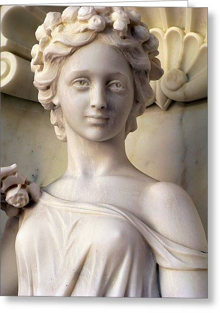 Nude Woman Torso Sculpture Greeting Cards - Woman Royalty Intricate Hair Greeting Card by Jeff Lowe