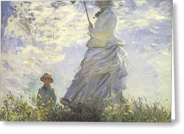 Woman with a Parasol Greeting Card by Claude Monet