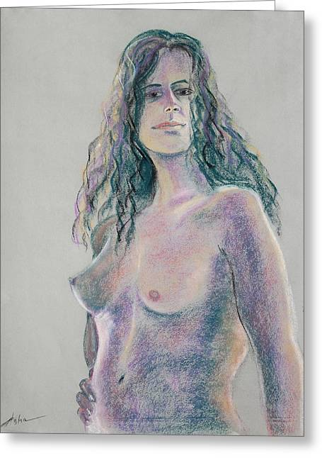 Artistic Nude Framed Prints Greeting Cards - Woman with Hand on her Hip Greeting Card by Asha Carolyn Young