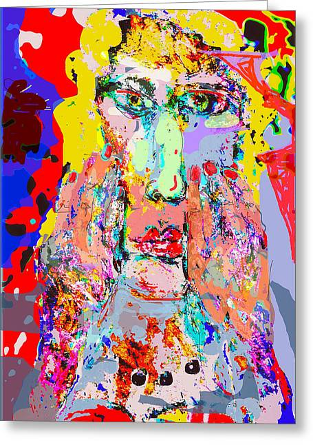 Human Spirit Greeting Cards - Woman with Pearls Greeting Card by Alan Stecker