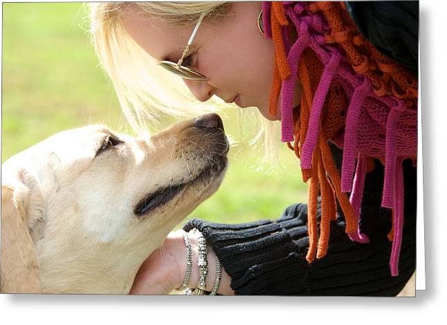 woman's best friend Greeting Card by Andrew Heald