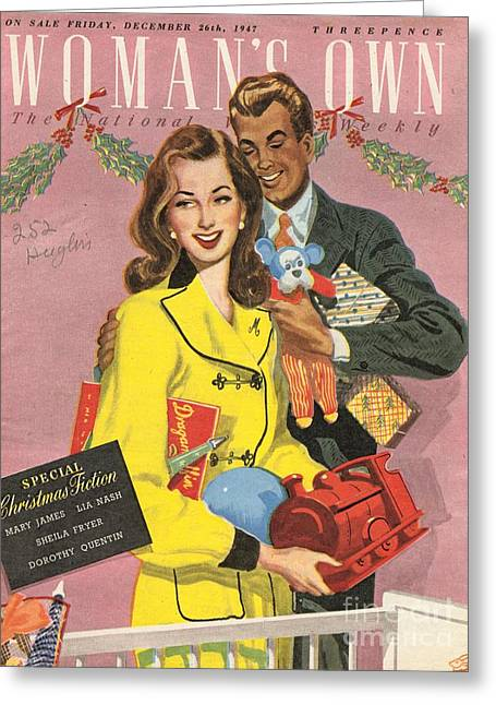 Twentieth Century Greeting Cards - Womans Own 1940s Uk Presents Gifts Greeting Card by The Advertising Archives
