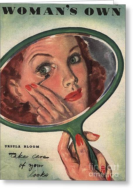 WomanÕs Own 1944 1940s Uk Make-up Greeting Card by The Advertising Archives