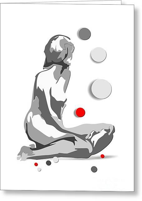 Geometric Image Greeting Cards - Women 100-02-13 Marucii Greeting Card by Marek Lutek