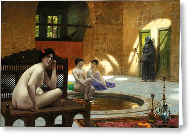 Gerome Greeting Cards - Women in Bath Greeting Card by Jean-Leon Gerome