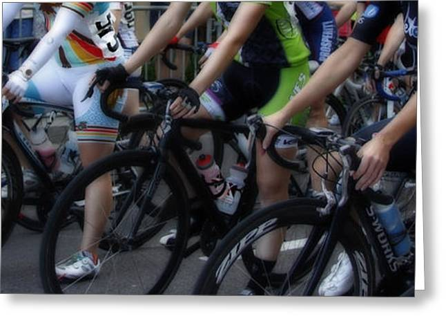 Bicycle Racing Greeting Cards - Women in Waiting Greeting Card by Steven  Digman