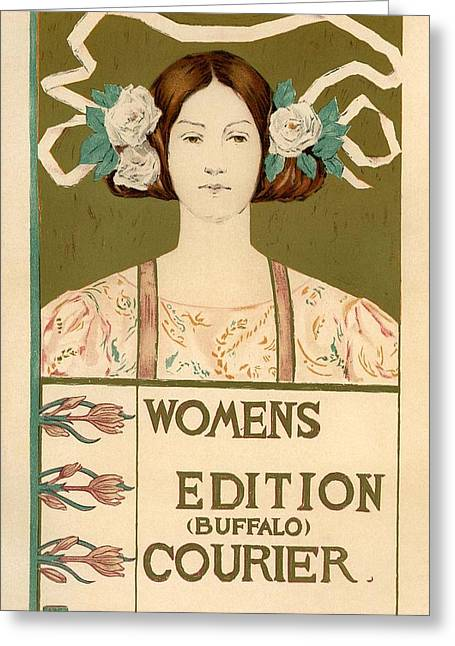 Belle Epoque Digital Greeting Cards - Womens Edition Buffalo Courier Greeting Card by Gianfranco Weiss