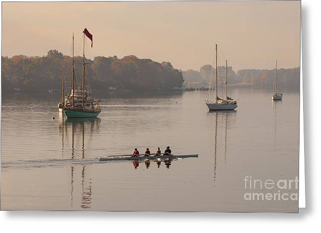 Masts Greeting Cards - Womens Four and More on the Chester River Greeting Card by Lauren Brice