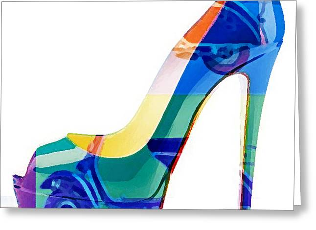 Womens Shoe Painting Vespa Scooter Greeting Card by Marvin Blaine