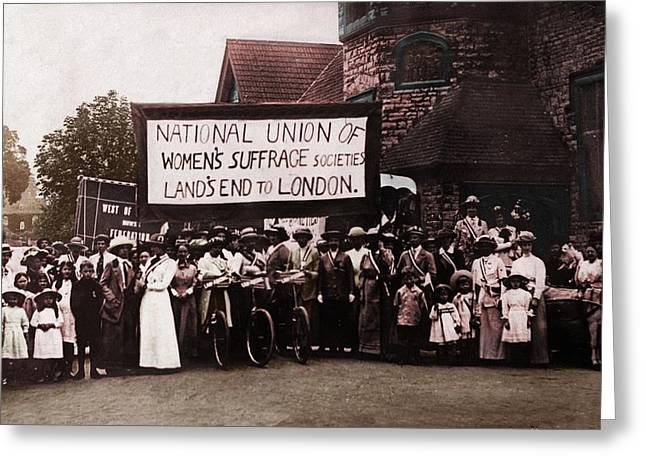 Voted Images Greeting Cards - Womens Suffrage Society London Greeting Card by Diane Addis