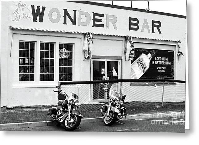Down The Shore Greeting Cards - Wonder Bar Greeting Card by John Rizzuto