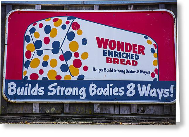 Outdoors.color Greeting Cards - Wonder Bread Sign Greeting Card by Garry Gay