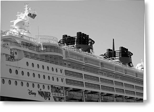 San Diego Harbor Cruise Greeting Cards - Wonder- The Cruise Ship Greeting Card by See My  Photos