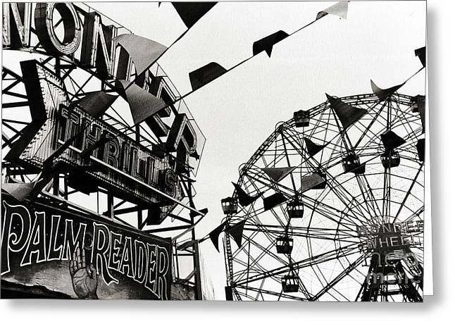 Madeline Ellis Greeting Cards - Wonder Wheel Greeting Card by Madeline Ellis