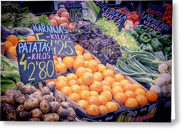 Local Food Greeting Cards - Wonderful in Any Language Greeting Card by Joan Carroll
