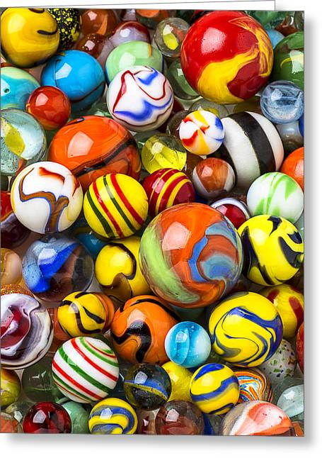 Amusements Greeting Cards - Wonderful Marbles Greeting Card by Garry Gay