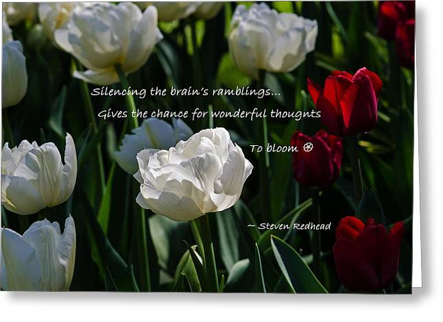 Wonderful Thoughts Bloom Greeting Card by Jordan Blackstone