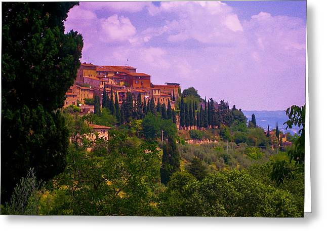 Tuscan Sunset Greeting Cards - Wonderful Tuscany Greeting Card by Dany  Lison