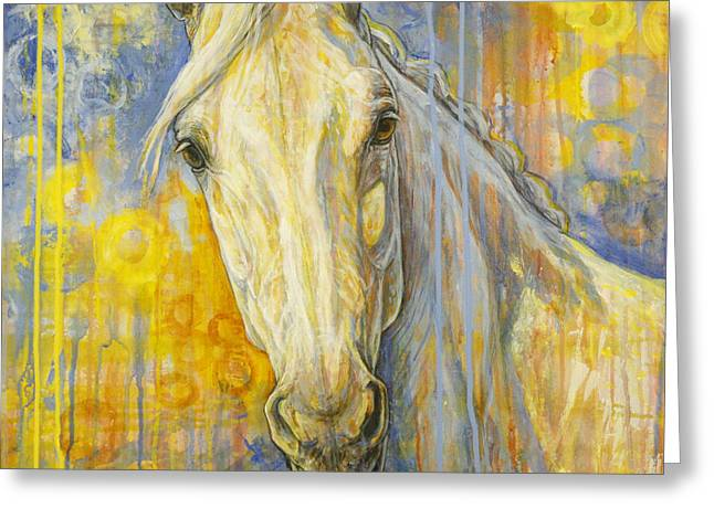 Horse Artist Greeting Cards - Wondering Greeting Card by Silvana Gabudean