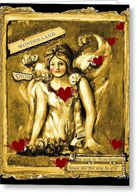 Wonderland Greeting Card by Carrie Joy Byrnes