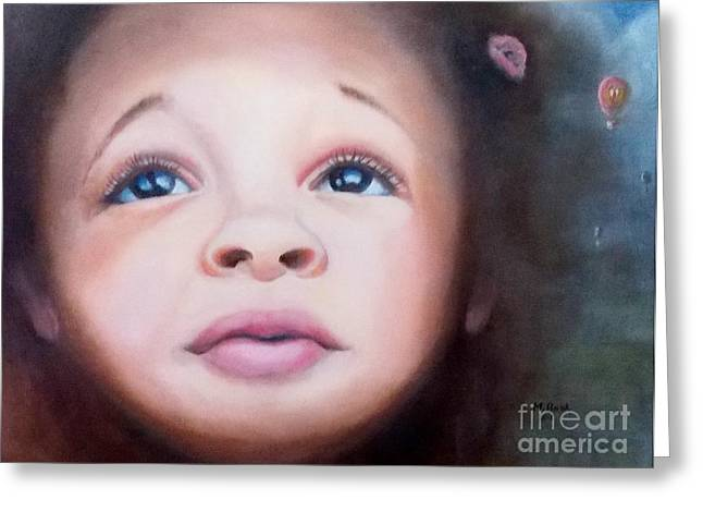 African-american Greeting Cards - Wonderment Greeting Card by Marlene Book
