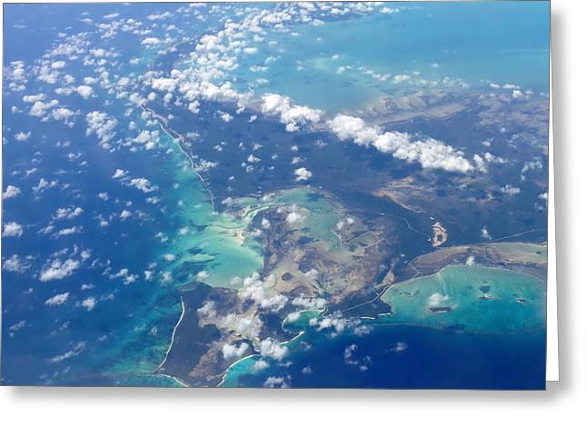 Caribbean Island Greeting Cards - Wonders From Above Greeting Card by Laurie Search